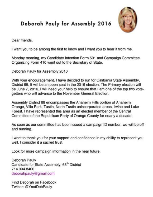 DeborahPaulyAssemblyAnnouncement